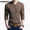 Men Cashmere Wool Sweater Vneck Long Sleeve Shirt Winter Casual Knitted Pullover