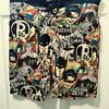 Men's DC Comics Batman Swim Trunks Board Shorts Medium Retro Robin Superman D14