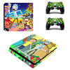 Regular PS4 Slim Pro Console Remotes Skin Rick Morty Vinyl Wrap Decal Stickers