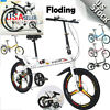 20in Folding 7/1-Speed ​​City Compact Suspension Bike Bicycle Urban Commuters