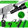 500yd Green/Red LED Tactical Flashlight Torch Hunting Light Gun Rifle Mount Set