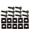 Mobile Home Axle Wheel Bolt (Course Thread) w/Rim Clamps 10 pack