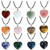 Natural Stone Quartz Heart Rock Pendant Necklace Fashion Jewelry Free Shipping