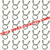 50pcs 10mm Motorcycle Scooter ATV Fuel Line Hose Tubing Spring Clips Clamps