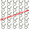 50pcs 11mm Fuel Line Hose Tubing Spring Clips Clamps Motorcycle Scooter ATV