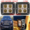 APair Of 12W LED Work Light offroad Spot Driving Lamp for jeep Truck 4WD ATV 4X4
