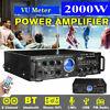 2000W 110V 2CH VU Bluetooth 5.0 home audio stereo power amplifier HiFi AMP FM SD