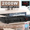 5Ch 2000W 110V bluetooth Home Stereo Power Amplifier Receiver Amp Hi-Fi FM SD US