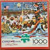 Charles Wysocki 1000 piece jigsaw puzzle Small Town Christmas Used complete