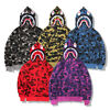 Hoodie Bathing Ape Bape Shark Zipper Unisex style Sweat Coat Jaw Jacket Camo New