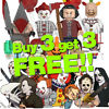 █ Buy 2 Get 1 Free █ - TV Horror Movie Cartoon MOC Kids Gift Toys