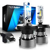 NIGHTEYE 8000LM H4 9003 LED Headlight Bulbs Hi/Lo Beam Super Bright 6500K Xenon
