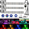 Car Motorcycle led lights Wireless Remote 18 color Neon Glow Light Strips Kit US
