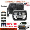 7X6 5x7 120W LED Headlight Hi/Lo Beam For Chevy Express Cargo Van 1500 2500 3500