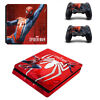 PS4 Playstation 4 Slim Console Controller Skin Sticker Spiderman Vinyl Cover