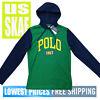 Polo Ralph Lauren Men's NWT 1967 Pullover 100 Cotton Hoodie Shirt Green Navy 2XL