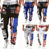 Mens Casual Sweatpants Sports Baggy Jogger Harem Pants Running Tracksuit Bottoms