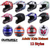 DOT Youth Helmet Adult Kids Motorcycle Full Face Offroad Dirt Bike ATV S M L XL