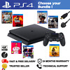 PLAYSTATION 4 PS4 - CHOOSE YOUR BUNDLE - 500GB BLACK CONSOLE + GAME + CONTROLLER