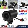 Bike Electric Horn 6 Sound Loud 120DB Bicycle Bell Ring Siren Speaker w/ Clips