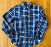 Ralph Lauren Polo Women's Blue Purple Plaid Flannel Shirt Size Medium Large XL