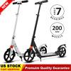 Foldable Adults Kick Scooter Adjustable Urban Commuter w/ 2 Big Wheels~US STOCK