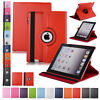 360 Rotating Leather Folio Case Cover Stand for iPad 234 Mini Air 9.7 10.2 10.5