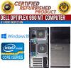 Dell OptiPlex 990 MT Intel i5 4 GB RAM 500 GB HDD Win 10 USB VGA B Grade Desktop