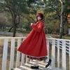 Japanese women cute doll collar Tweed Coat Casual Jacket Overcoat sweet girl's