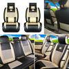 11Pcs Car Seat Cover PU Leather Mesh 5 Seats Front Rear+Pillows Set Universal US