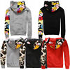 Hot Bathing Ape Bape Shark Jaw Camo Full Zipper Hoodie Sweats Coat Jacket Men's