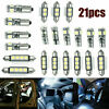 For Nissan Car Interior LED Light Kit Car Dome Door Footwell License Plate Bulbs