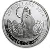 2014 1 oz RCM .9999 silver MAMMOTH  Prehistoric Animals COA & COA