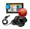 Garmin 50LMTHD DriveSmart GPS Bundle, N American Maps Sandbag Mount Car Charger