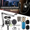 Pro Condenser Microphone Mic Kit Stand Mount for Recording Studio PC Game Chat