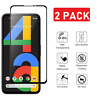 2-Pack For Google Pixel 4A/4G Full Coverage Tempered Glass Screen Protector Film