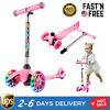 Scooter for Children Ages 3-12 with LED Light Up Wheels 4 Adjustable Height USA