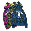 New Unisex  Bape A Bathing Ape  Shark Head Camo Hoodie Coat Sweatshirt