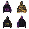 Camo Unisex Bape  Bathing Ape SHARK Head  FULL ZIP HOODIE  Clothes Jacket