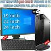 FAST CHEAP WiFi QUAD CORE i5 WINDOWS 10 PC DESKTOP COMPUTER FULL SET-UP BUNDLE