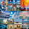 5D Diamond Painting Landscape Series Wall Hanging for Living Room Bedroom Decor