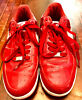 NIKE AIR FORCE 1 Sneakers Size 8 USPatent Leather Enamel Red Men's Shoes Rare