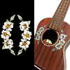 Inlay Sticker Decal for Ukuleles - Soundhole Rosette/Purfling - Hibiscus Flowers