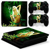 FriendlyTomato PS4 Pro Console and DualShock 4 Controller Skin Set Weed 420