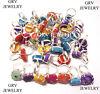 5pcs Rings Lot Solar Quartz Gemstones Jewellery 925 Sterling Silver Overlay