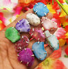 10PCS RING PINK BLUE GREEN SOLAR QUARTZ GEMSTONE 925 SILVER OVERLAY 5074