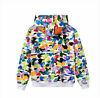 Long Sleeve Jacket Bape Bathing Ape Hoodie SHARK Head Camo Full Zip Coat STOCK
