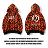 Bape A Bathing Ape Camo Shark And XO Jacket Loose Hoodie Hooded Casual Coat New