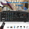 2000W bluetooth Power Amplifier Stereo AUX Car Home Audio 2 Channel AMP Receiver