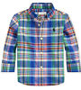 NWT Polo Ralph Lauren Baby Boys Plaid Cotton Poplin Shirt Royal Multi 9 Months